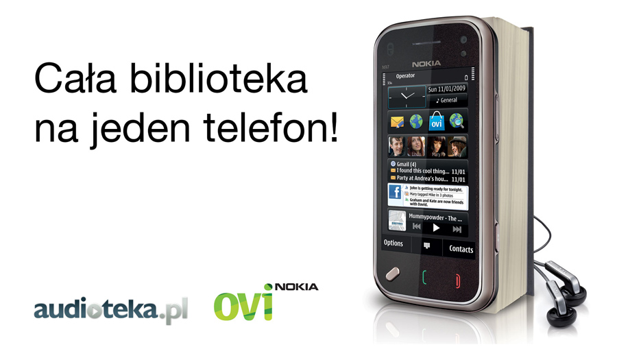 Kampania promująca słuchanie audiobooków na telefonach Nokia