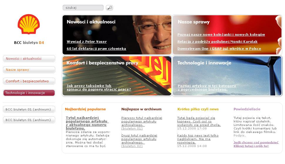 Serwis intranetowy – komunikacja wewnętrzna