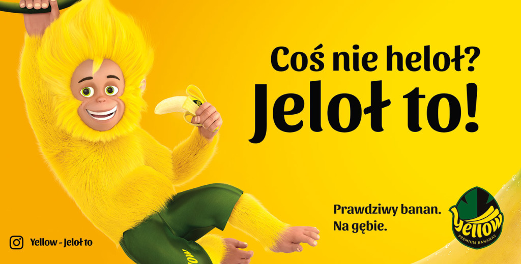 Nowej marka bananów Yellow!